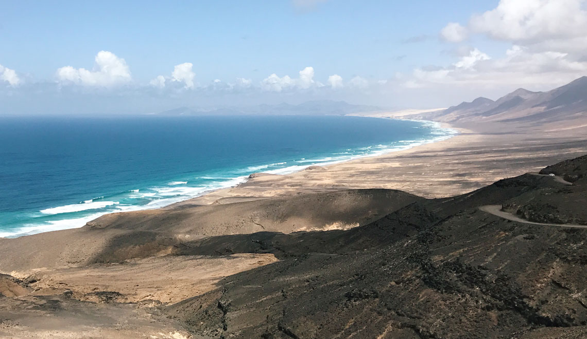 Fuerteventura spiaggia di Cofete - Jandia - vista panoramica